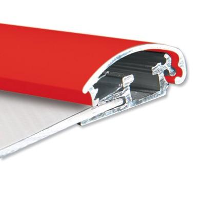 Alu Snäppram, röd, vägg, 25 mm