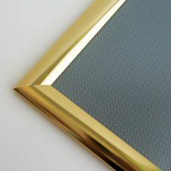 Alu Snäppram, guld, vägg, 25 mm
