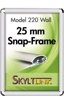 Alu Snäppram Rondo, vägg, 25 mm, Silveranodiserad.