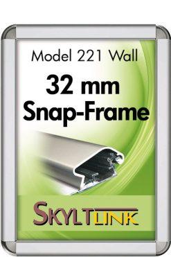 Alu Snäppram Rondo, vägg, 32 mm, Silveranodiserad.