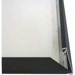 CROWN Snäppram, svart, vägg, 33 mm.
