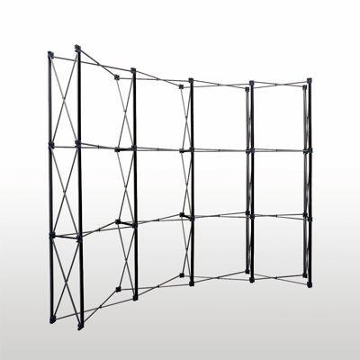 Pop-Up vägg mässa svängd 3x3