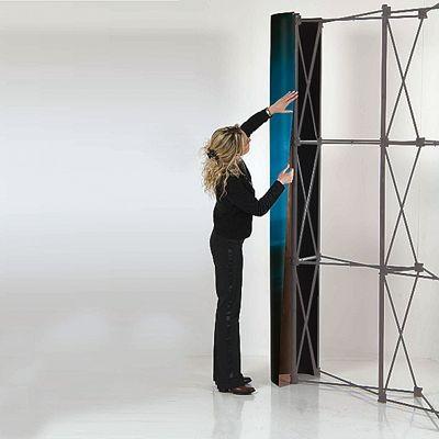 Pop-up vägg rak 3x3