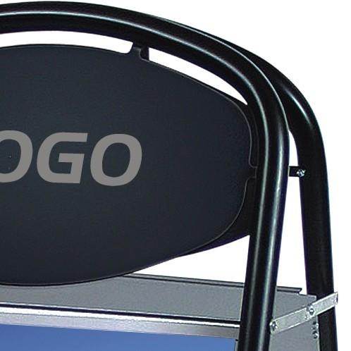 Expo Ellipse Gatupratare med plats för logo
