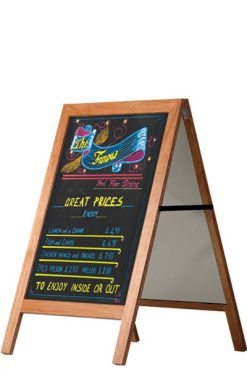 Blackboard Trottoarpratare i trä