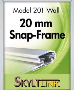 Alu Snäppram vägg, 20 mm profil.