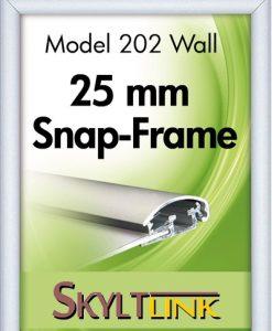 Alu Snäppram vägg, 25 mm profil.