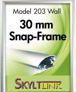 Alu Snäppram vägg, 30mm profil.
