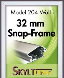 Alu Snäppram vägg, 32mm profil.