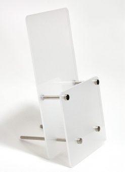 Broschyrhållare frostad akryl