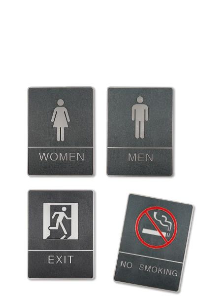 """Skylt """"No smoking"""" med blindskrift"""